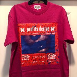 Cav Empt graphic T-shirt (dark pink colored)